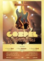 Gospel Expressions Flyer, Ticket and CD Template by Godserv