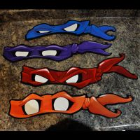 Ninja Turtle Mask Cutout Paintings by Outrider81