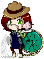 Commission Logo for Jennifer on FB Cowgirl Version by kuroitenshi13