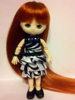 Tiered black and white dress by Donttouchmykitty
