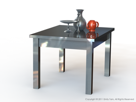 Metal Table and Kitchenware by Skarlet-Raven