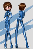 Another Living Latex Suit by Rosvo