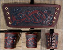 The Viking Serpent cuff by Wodenswolf