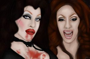 Sharon Needles and Alaska Thunderfuck by Ravyn0us