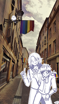 [APH - Pride Day] - France and Lorraine by Niutellat