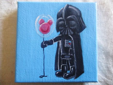 Mini Darth Vader Painting! by emokitten687