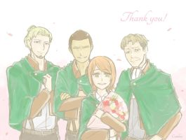SnK: Farewell by Cantobear