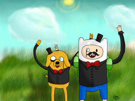 Adventure Time Is Dapper by Kokiri971