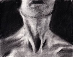 Neck Study - Charcoal Drawing by rgalexandervision