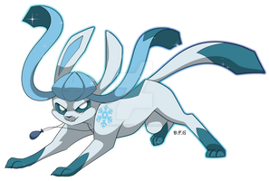 Poke-Commission Glaceon by Dragonfoxgirl