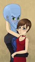 Megamind and Roxie by Cheshire-no-Neko