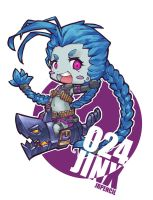 #025 Chibi Jinx from LOL by Jrpencil