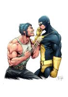 Wolverine (and Cyclops) by Afterlaughs