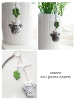 Totoro Cell Phone Charm by MooSeMiX