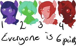Baby pony adopts [open] by Acryeel