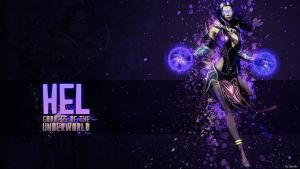 Hel, Goddess of the Underworld - Wallpaper HD by Getsukeii
