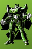 Green Robo 12 of 12 commission by Thuddleston