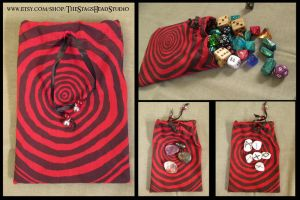 Tree Ring Pouch for Dice, Tarot, Runes etc. by ImogenSmid