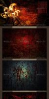 Red Horror Night | Cinematic Backgrounds by AzureRayArt