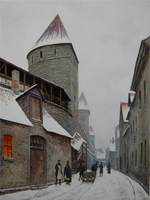 Laboratoriumi street in Old Town of Tallinn by voitv