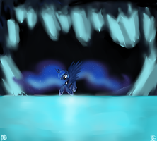 Moon Lake Cave by MoonShardDragon