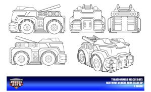 Rescue Bots Heatwave Vehicle Mode Clean Up by thegreatjery