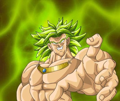 Broly the legendary super sayian by DragonicCreations