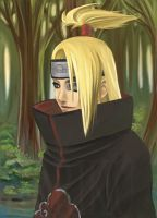 Deidara Portrait by arriku