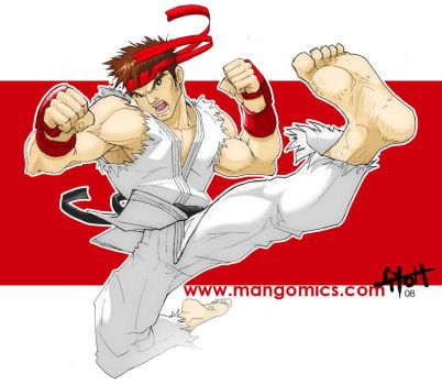 Ryu no kick by TetraGyom
