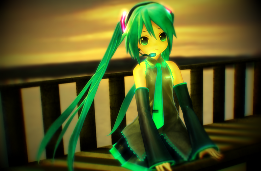 [MMD] Miku in Sunset :3 by FantasyXII