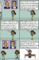 Hillary Clinton v Barack Obama by niboswald