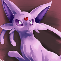 Espeon speedpaint by MamaRocket