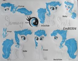 OC Shimmering Sheild Filly Reference by EmR0304