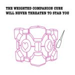 The Weighted Companion Cube by 0MaNo0