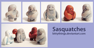 Sasquatches - SOLD OUT by Bittythings