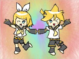 [CE] Kagamine Rin and Len~ by LilyKittyCat