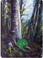 Magic the Gathering Alteration: Forest 5/2/14 by Ondal-the-Fool