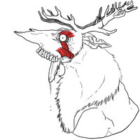 Zombie reindeer T-Shirt design concept by PudgyCat