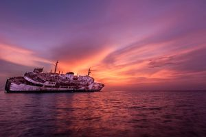 Sinking at Sunset II by mhmalali