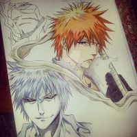 Work In Progress: Ichigo and Zangetsu by SofiaCinex