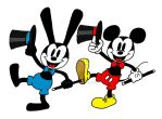Old School Oswald and Mickey by Peacekeeperj3low