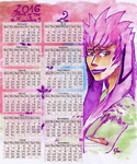 Bleach 2016 Calendar - Year of the monkey by deidara1444