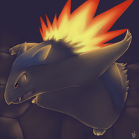 .:Typhlosion:. by Blue-Chica