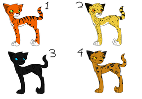 Big cat adoptables (1 LEFT) by Helkie-three