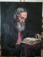 Portrait of Efim Repin by mhairya