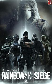 RAINBOW SIX SIEGE FANART/ ALTERNATIVE PROMO BANNER by ricardofx