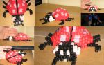 Perler-beads 3D lady bug by Tap-Photo-and-Co