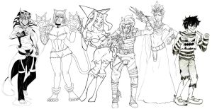 Halloween and Hallowmas 2011 Collab by Lonely-X