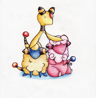 Mareep Evolution Line by WTFmoments