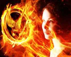 The Hunger Games. Katniss in the flame by StalkerAE